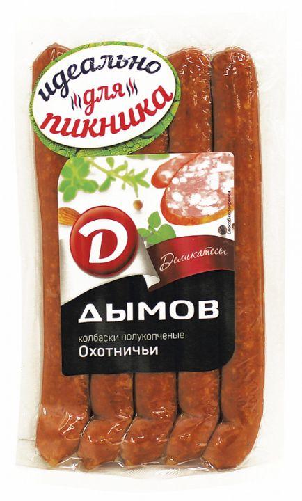Колбаски Охотничьи п/к в/у 240г Дымов