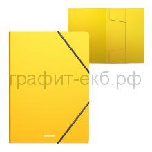 Папка А4 на резинках ErichKrause Classic желтая 47193