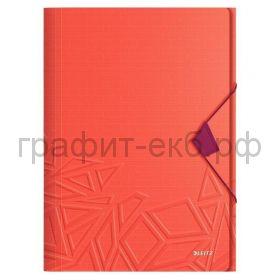 Папка А4 на резинках Leitz UrbanChic красный 46490024