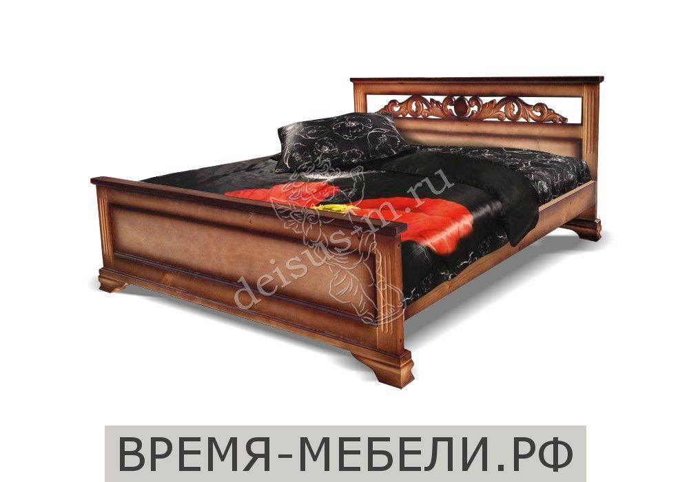 Кровать Лира-М с резьбой