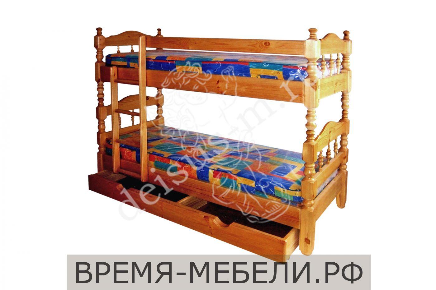 Кровать Двухъярусная-М точенка