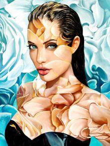 Алмазная мозаика «Анджелина Джоли» 50x65 см