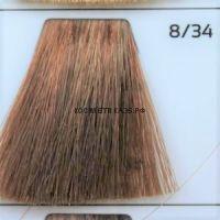 Крем краска для волос 8/34 Светло русый золотисто-медный 100 мл.  Galacticos Professional Metropolis Color