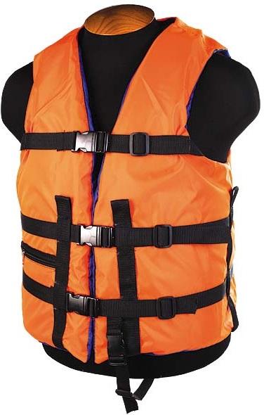 Жилет страховочный SM-026 до 120кг, размер (54-58) оранжевый