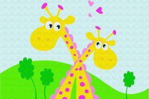 Раскраска по номерам «Жирафики» 10x15 см