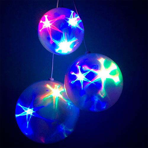 Эксклюзивный шар с LED светодиодами Ceiling Colourful Star Light 20 см