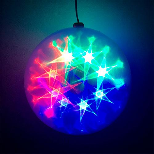 Эксклюзивный шар с LED светодиодами Ceiling Colourful Star Light 15 см