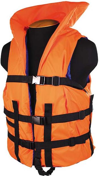 Жилет страховочный с подголовником SM-030 до 80кг, размер (44-48) оранжевый