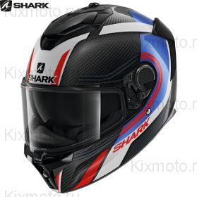 Мотошлем  Shark Spartan GT Carbon Tracker, Черно-бело-красный