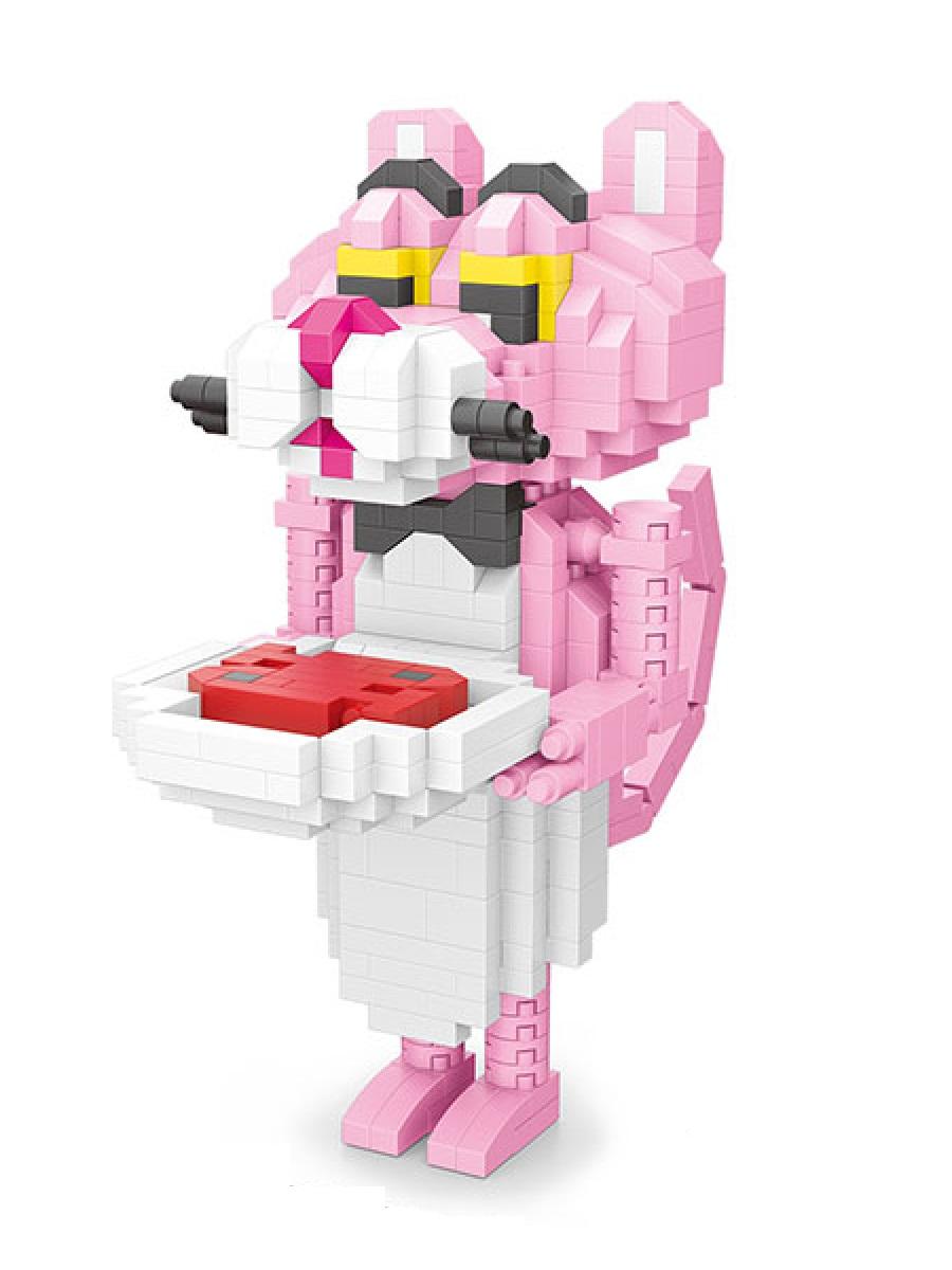 Конструктор Wisehawk & LNO Розовая пантера официант 505 деталей NO. 2547 Pink Panther Gift Series