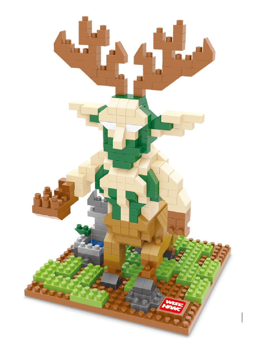 Конструктор Wisehawk & LNO Кенарий Варкрафт 477 деталей NO. 2452 Cenarius Warcraft mini blocks