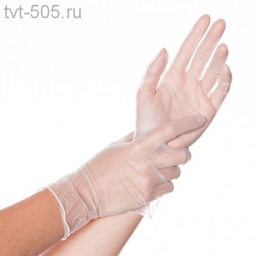 Перчатки виниловые размер L неопудренные
