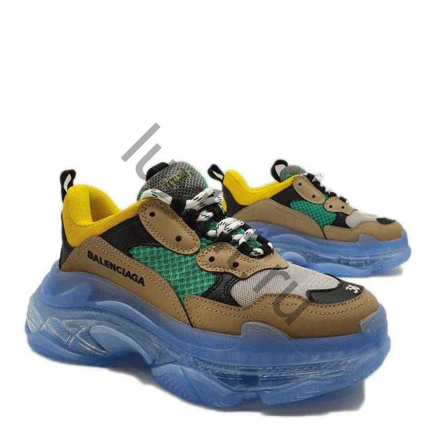 Кроссовки Balenсiagа Triple s желто-зеленые