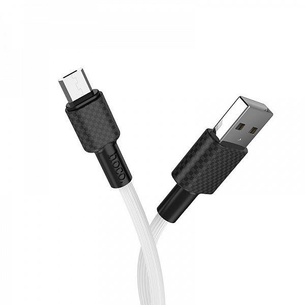 Кабель USB 2А HOCO X29 Белый (microUSB) 1м