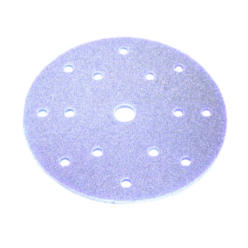 Sia 7972 Siasponge Абразивные губки на липучке в кругах, 150мм., 15 отверстий, P320, #1500 microfine, фиолетовая