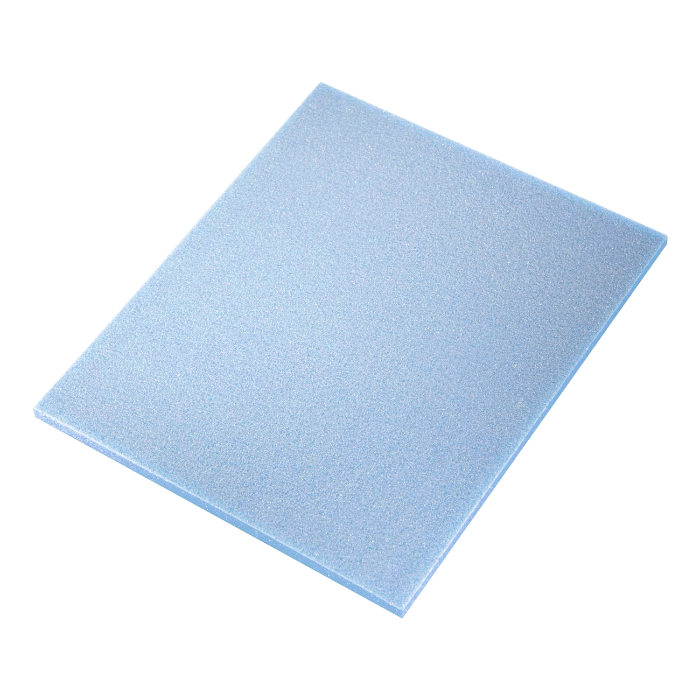 Sia 7972 Siasponge Односторонние цветные губки, 115мм. x 140мм. x 5мм., P220 #800 ULTRAFINE, голубая