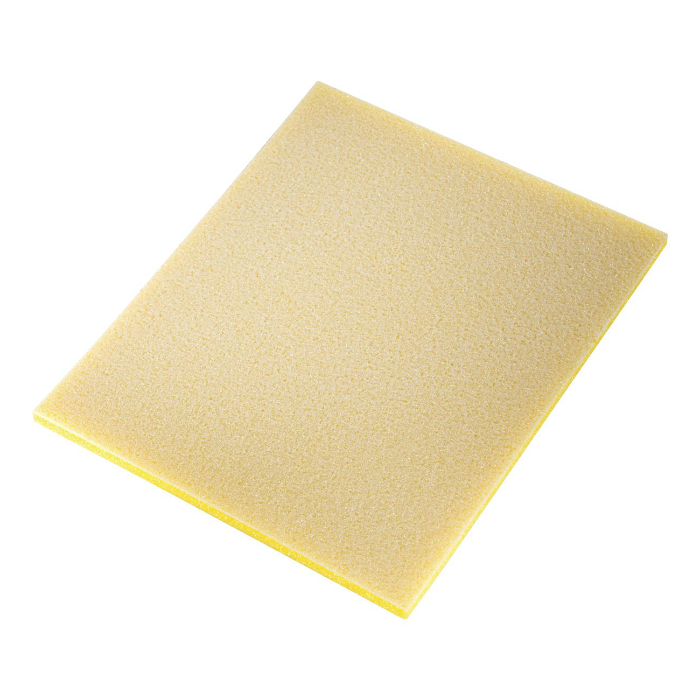 Sia 7972 Siasponge Односторонние цветные губки, 115мм. x 140мм. x 5мм., P80 #500 FINE, желтая