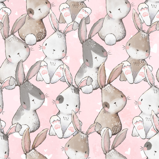 Хлопок Перкаль Милые зайцы 50х37