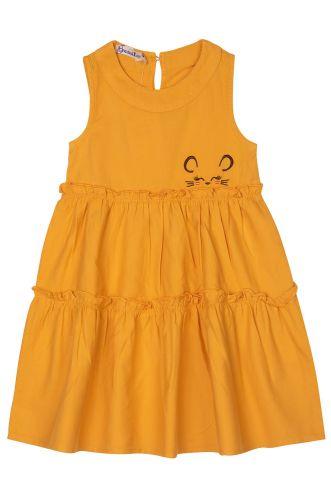 """Платье на девочек 2-6 лет Bonito kids """"Мышонок"""" горчичное"""