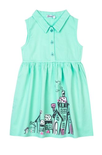 "Платье на девочек 2-6 лет Bonito kids ""Lodges"" бирюзовое"