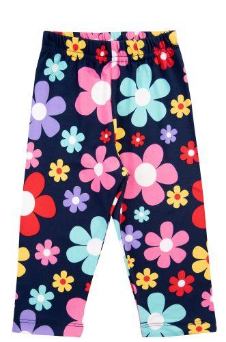 """Бриджи для девочек 3-7 лет Bonito kids """"flowers"""" темно-синие"""