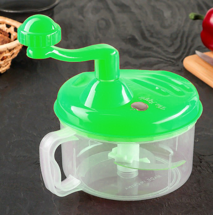 Механический измельчитель Apple King 3 ножа (цвет зелёный)