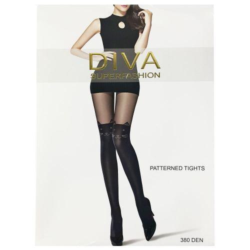 Женские колготки Diva Black 380 Den DK56