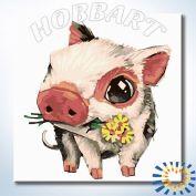 """Картина по номерам """"Piggy. Мини пиги"""" 20х20"""