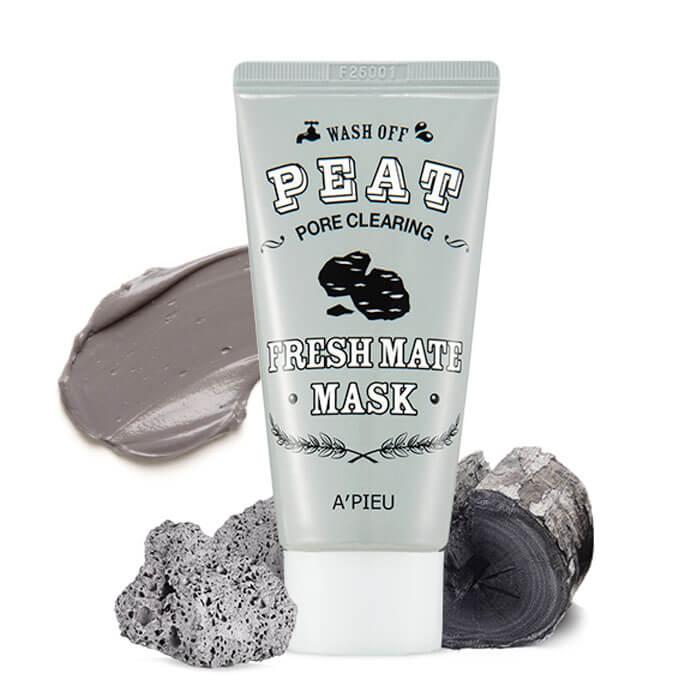 Смываемая маска с вулканическим пеплом A'Pieu Fresh Mate Peat Pore Clearing Mask