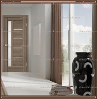 Межкомнатная дверь PREMIER 3  Ильм европейский, стекло - Мателюкс :