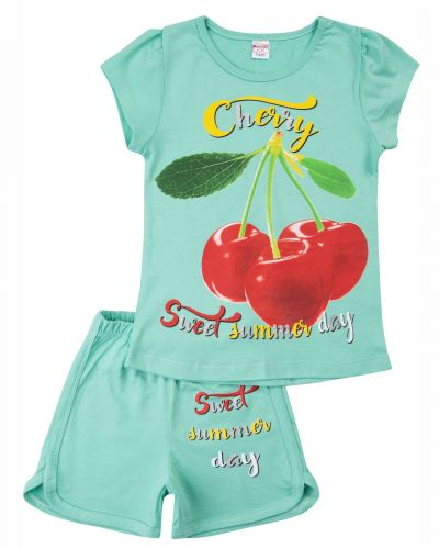 """Костюм для девочек 4-8 лет Bonito kids """"Cherry"""" ментоловый"""