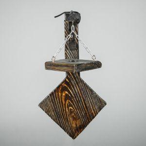 """Бра деревянное """"Циклоп"""", с квадратными плафонами, цвет палисандр"""