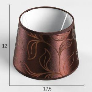 Абажур Е14 коричневый-золотой 17,5х17,5 см.   4415792