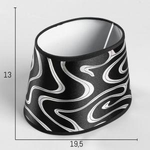 Абажур Е14 черный-серебро 14,5х20 см.   4415794