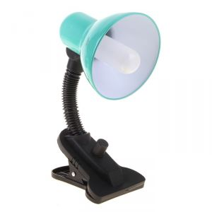 Лампа настольная Е27, светорегулятор, на зажиме (220В) зеленая (108А) 739288