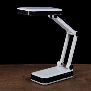 """Лампа настольная складная LEDх24 АКБ 3W """"Трансформер"""" чёрно-белая 13,5х6х7,5 см  3000063"""