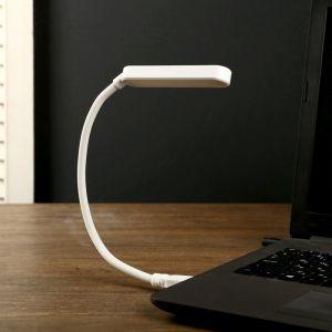 "Лампа сенсорная c USB ""Модерн"" 3 режима 3,5Вт белый 7х1х34 см.   4449393"