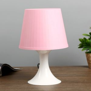 Настольная лампа 1340008 1хE14 15W розовый d=19,5 высота 28см   4556509