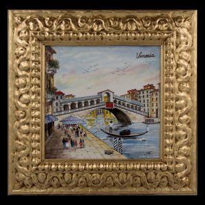 """Картина керамическая """"Венеция. Мост Риальто"""""""