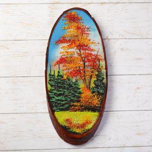 """Панно на спиле """"Осень"""", 45 см, каменная крошка, вертикальное 1144312"""