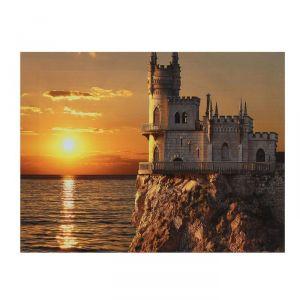 "Картина на подрамнике ""Замок на закате"""