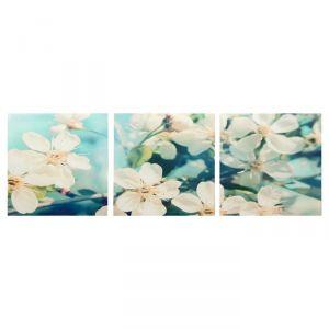 """Модульная картина """"Веточки яблони"""" (3-35х35) 35х105 см 4983612"""