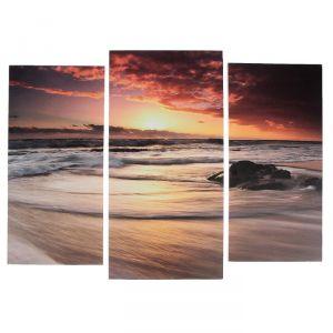 """Модульная картина """"Морские волны""""  (2-25х52; 1-30х60) 60х80 см   3981606"""