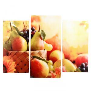 "Модульная картина ""Осенний натюрморт"" (2-25х50, 30х60 см) 60х80 см   4675814"
