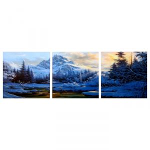 "Модульная картина ""Прохлада гор"" (3-35х35) 35х105 см 4983601"