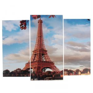 "Модульная картина ""Эйфелева башня осенью""  (2-25х52; 1-30х60) 60х80 см   3981621"