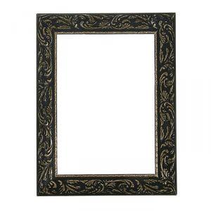 Рама для зеркал и картин из дерева, 20 х 30 х 4 см, цвет чёрный с золотом