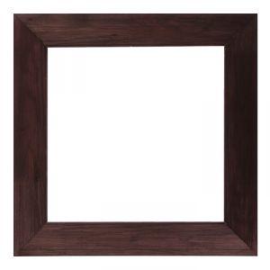 Рама для зеркал и картин дерево 40 х 40 х 7.5 см, липа, брошировка, венге