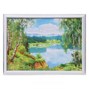 "Картина ""Лесное озеро"" 28х38 см 4832439"