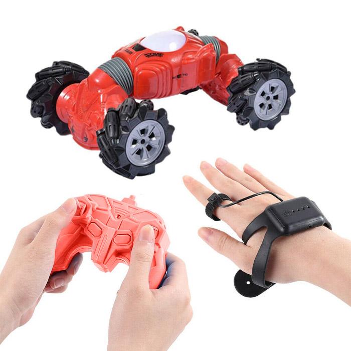 Машинка - перевёртыш с управлением жестами Champions Climber, 32 см, Цвет Красный